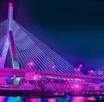 Zakim Bridge Lights for Women's Equality Day 2017