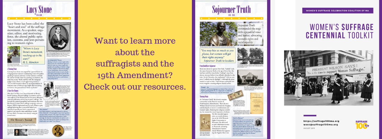 Suffrage Centennial Resources